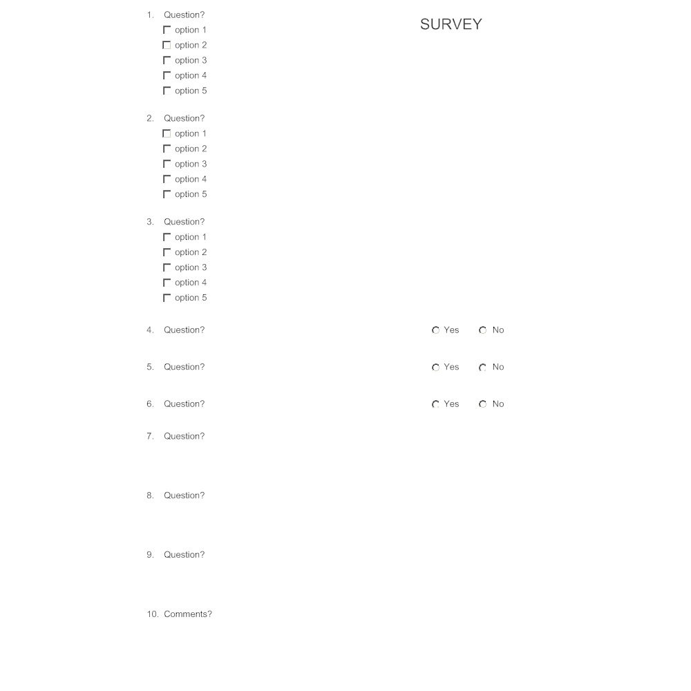 Example Image: Survey Template 5