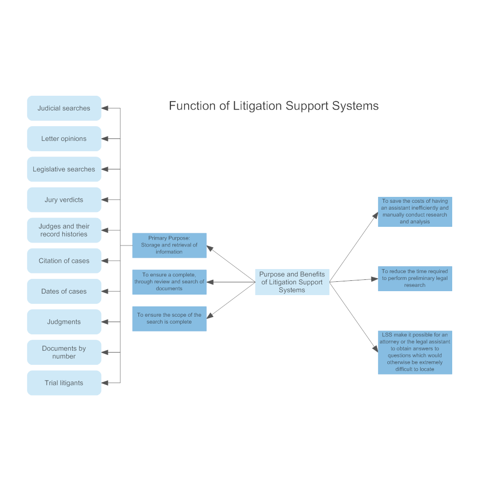 Example Image: Function of Litigation Support Systems