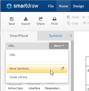 Finding UML symbols