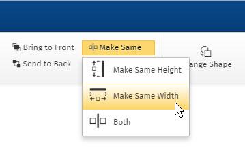 Make the same size