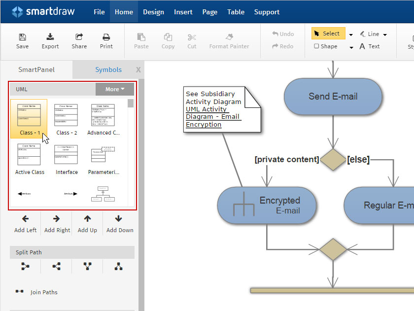 how to make uml diagrams rh smartdraw com how to make diagrams online how to make diagrams on word