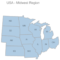 USA Region - Midwest