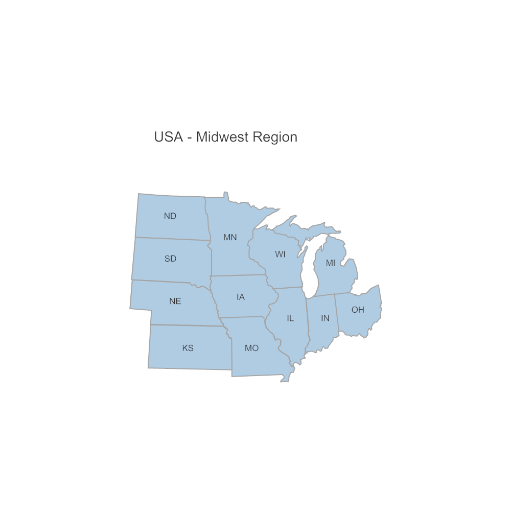 Example Image: USA Region - Midwest