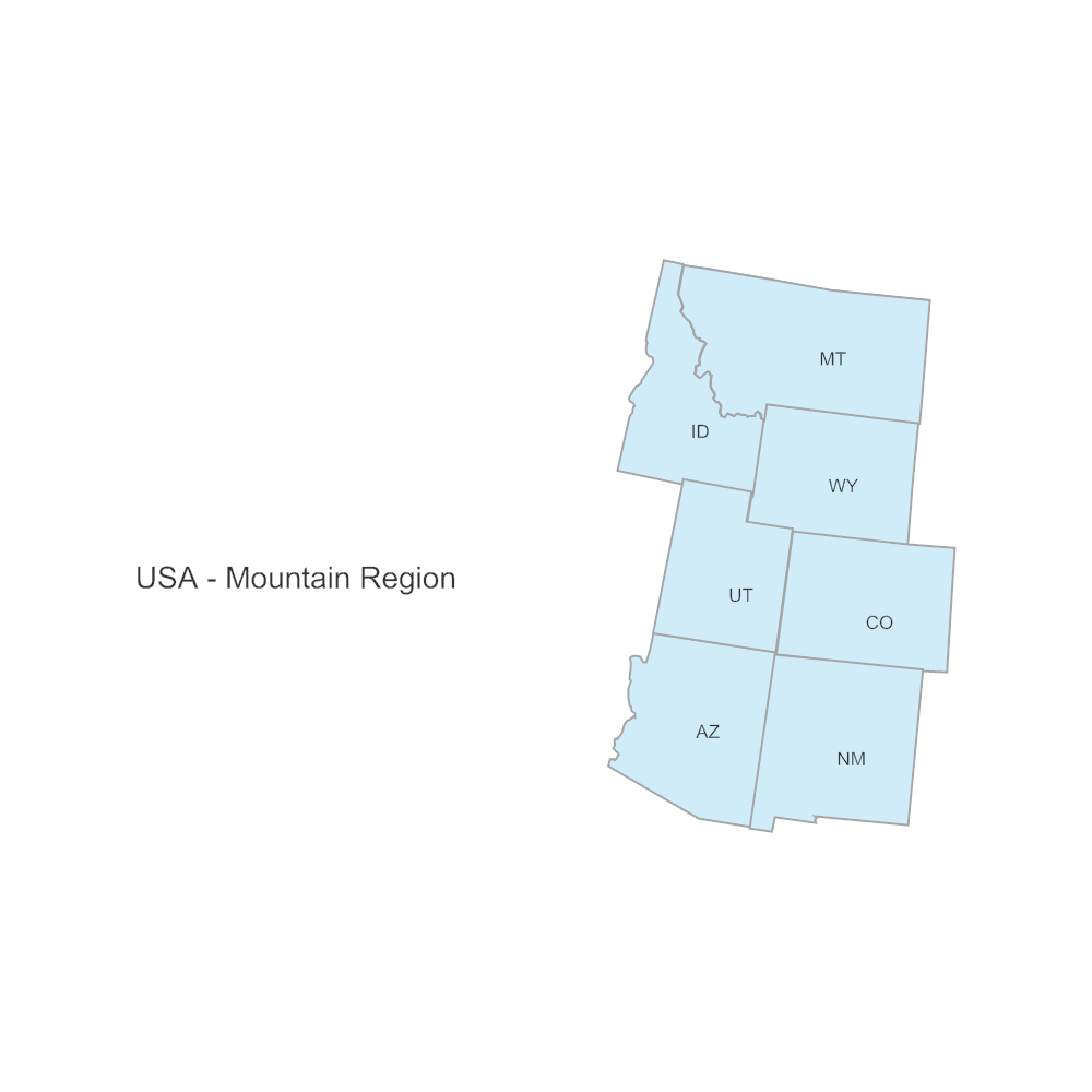 Example Image: USA Region - Mountain