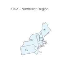 USA Region - Northeast