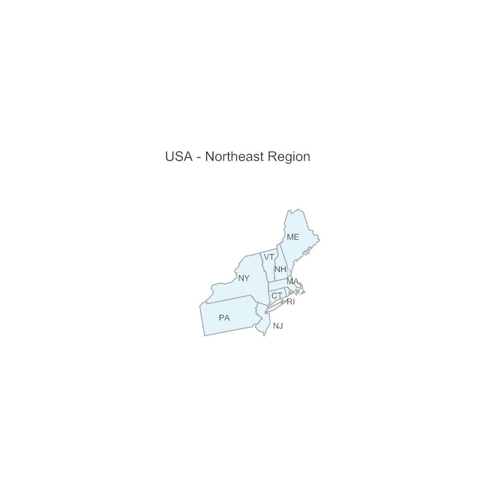 Example Image: USA Region - Northeast