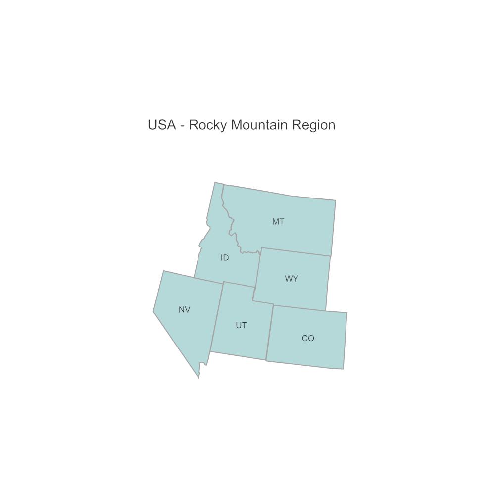 Example Image: USA Region - Rocky Mountain