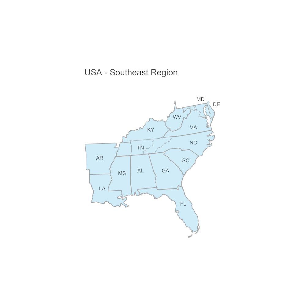 Example Image: USA Region - Southeast