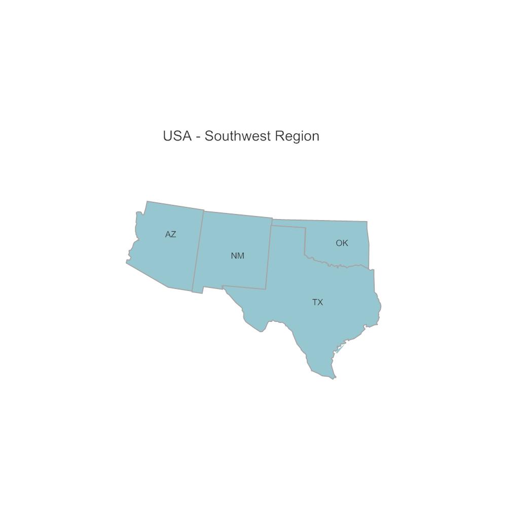 Example Image: USA Region - Southwest