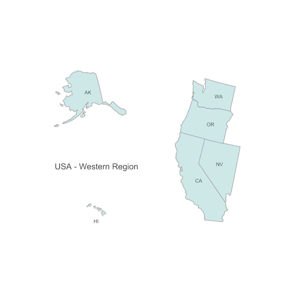 Example Image: USA Region - Western