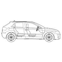 2-Door Compact Car - 2 (Side View)