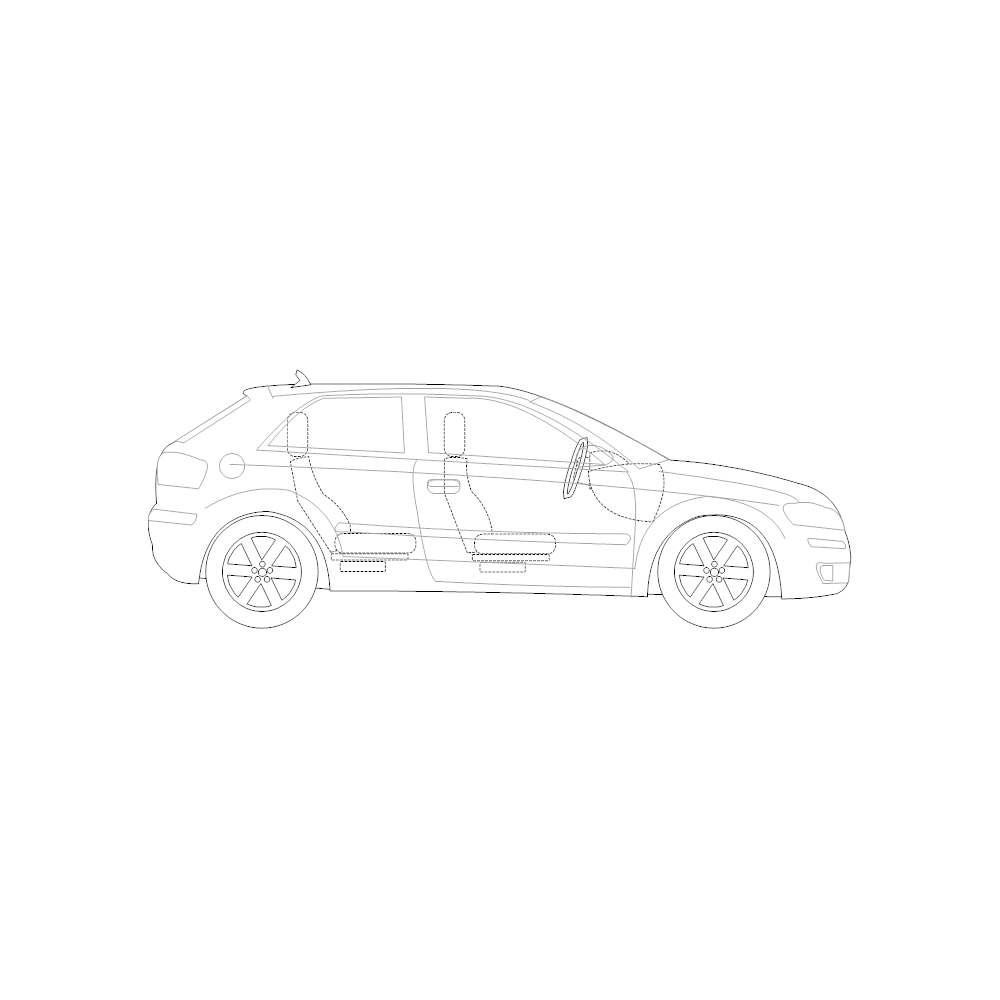 Example Image: 2-Door Compact Car - 2 (Side View)