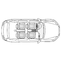 4-Door Compact Car - 1 (Elevation View)