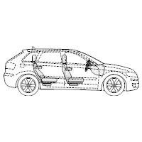 4-Door Compact Car - 1 (Side View)