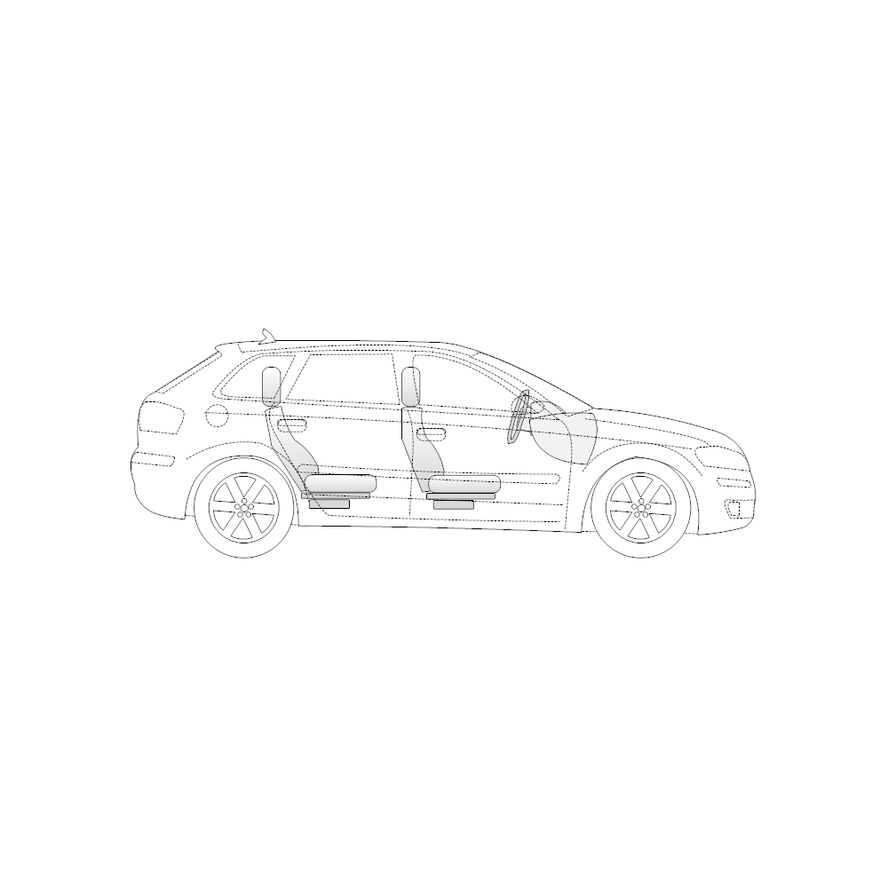 Example Image: 4-Door Compact Car - 1 (Side View)