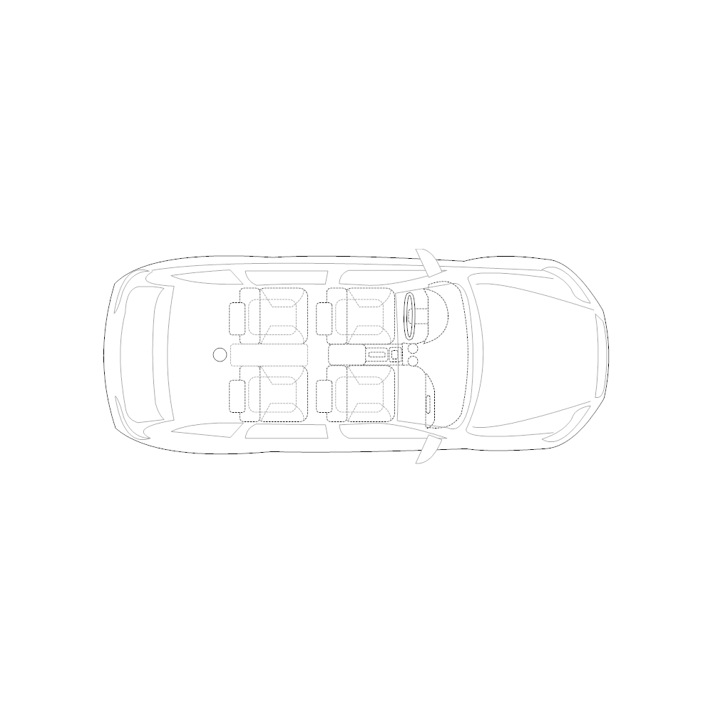 Example Image: 4-Door Compact Car - 2 (Elevation View)