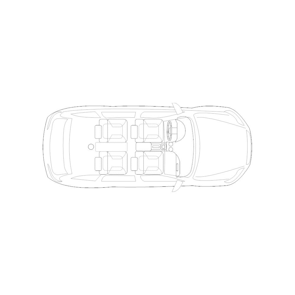 Example Image: 4-Door Compact Car - 2 (Elevation View)
