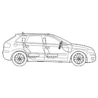 4-Door Compact Car - 2 (Side View)