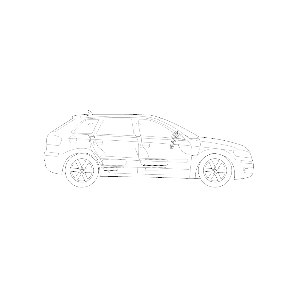 Example Image: 4-Door Compact Car - 2 (Side View)