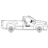 Pickup Truck - 1 (Side View)