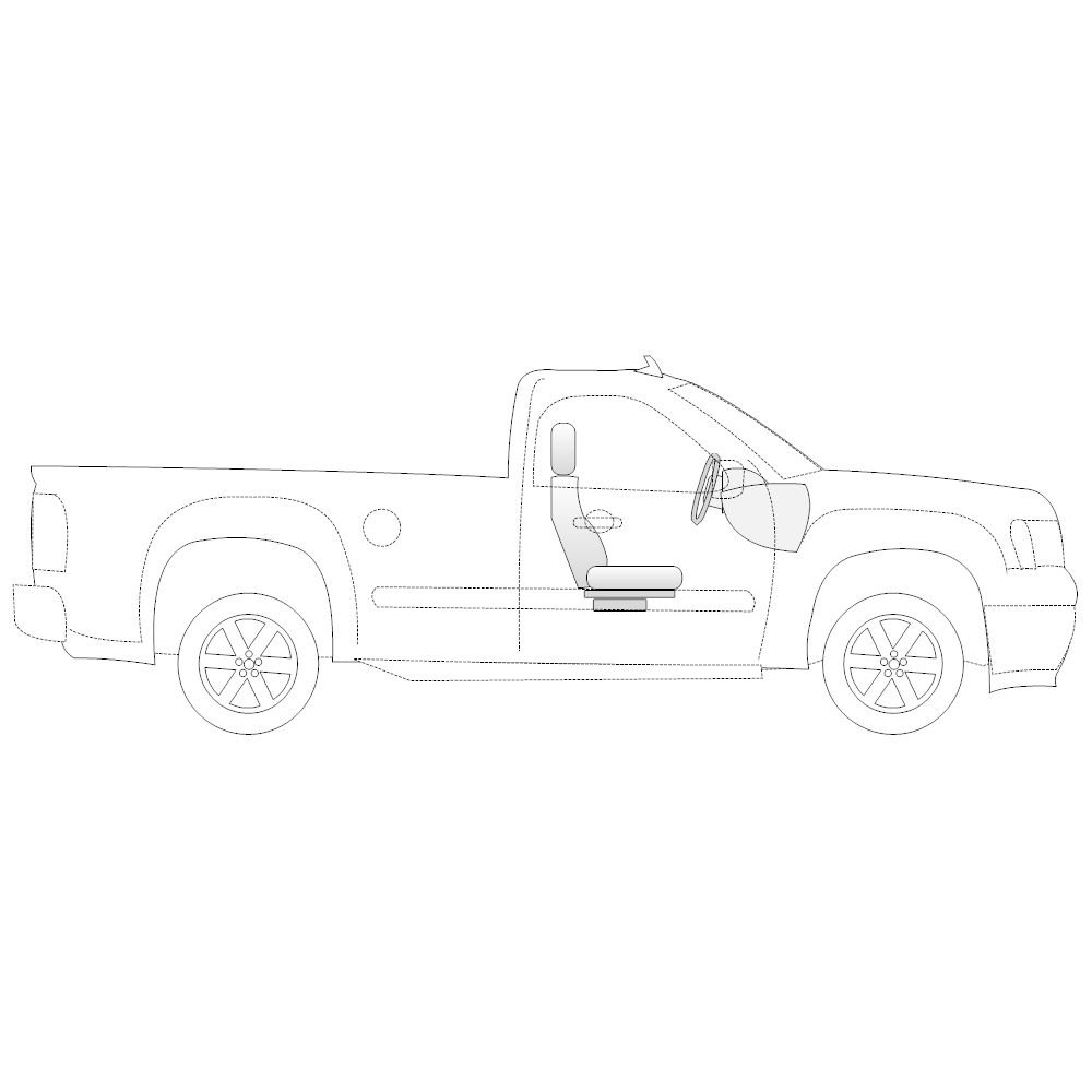 Example Image: Pickup Truck - 1 (Side View)