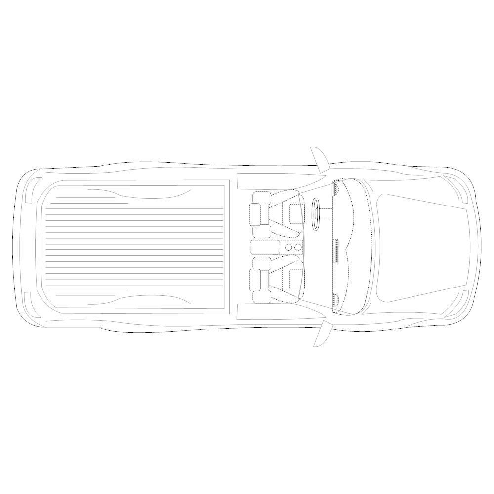 Example Image: Pickup Truck - 2 (Elevation View)