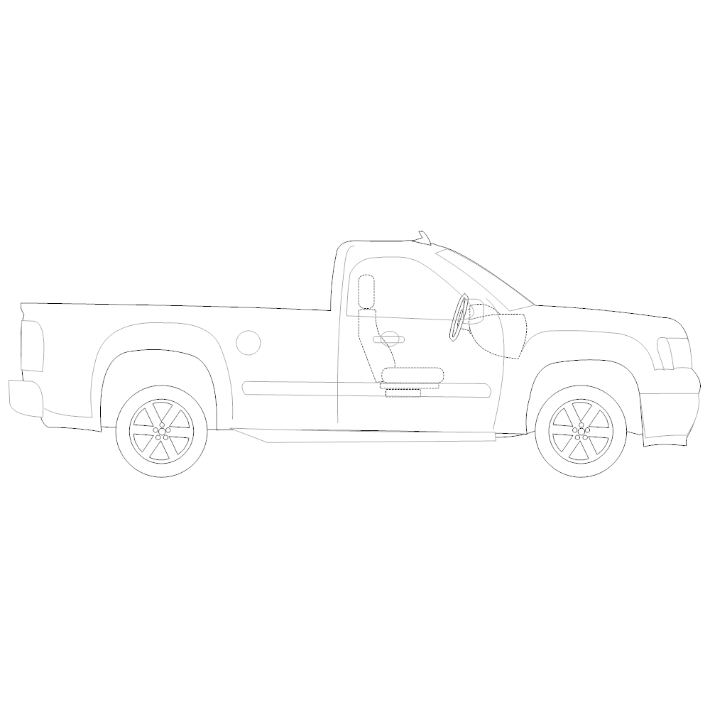 Example Image: Pickup Truck - 2 (Side View)