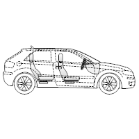Vehicle Diagram - 2-Door Compact Car Side View