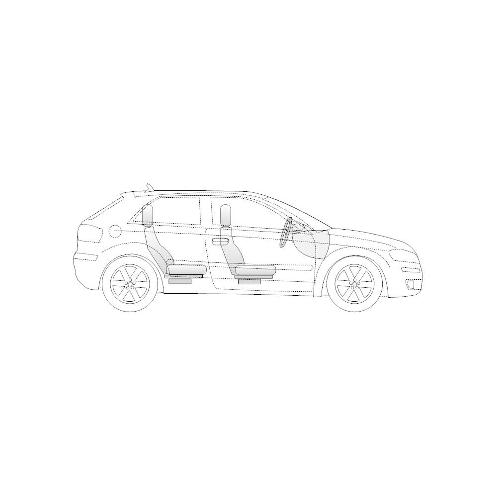 2-Door Compact Car Side View