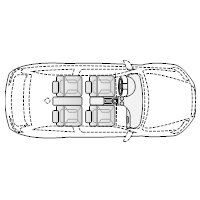 Vehicle Diagram - 2-Door Compact Car