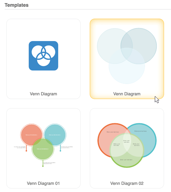 Venn diagram software get free venn templates smartdraw venn diagram templates ccuart Choice Image