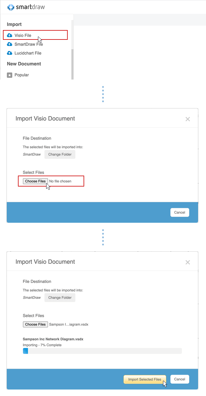 Import Visio files