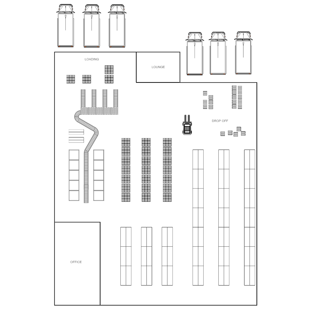 Warehouse layout for Draw layout warehouse