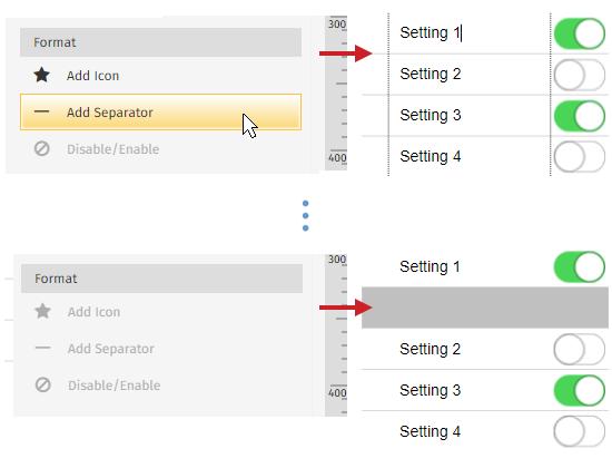 Add wireframe separator