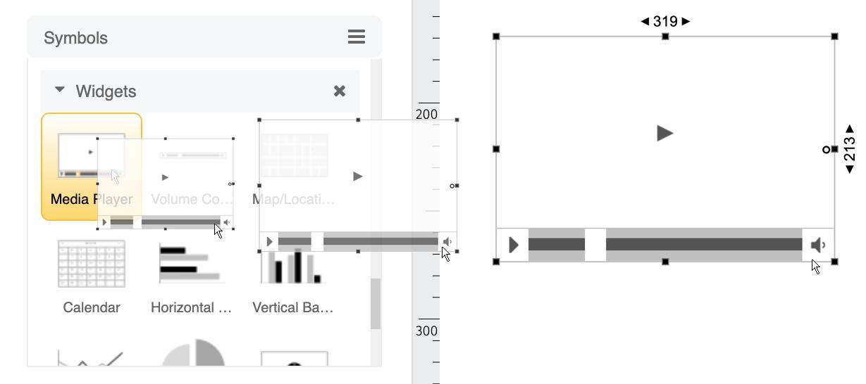 Wireframe symbols