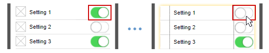 Toggle smart wireframing symbols