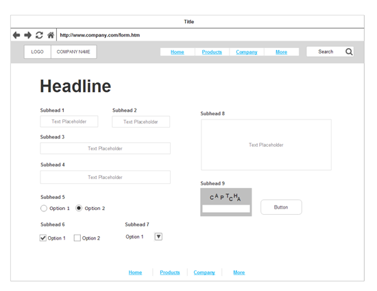 Create a wireframe