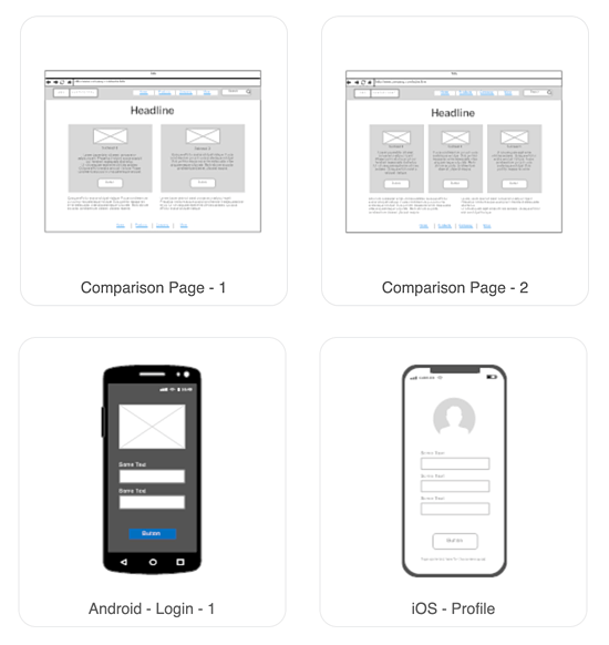 Wireframing templates