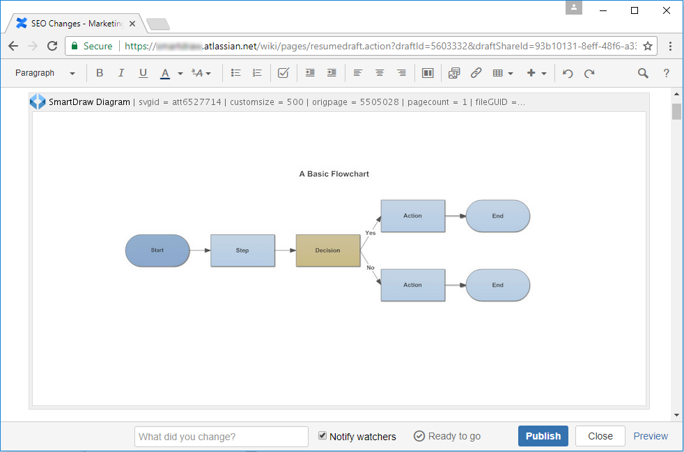 View SmartDraw diagram in Confluence