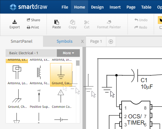 new powerful features for electrical engineering rh smartdraw com electrical engineering drawings symbols electrical engineering diagram visio