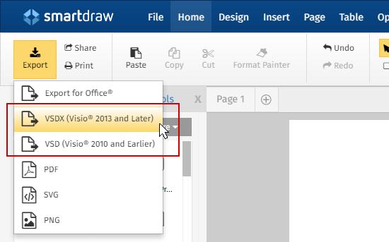 export visio files - Smartdraw Pdf