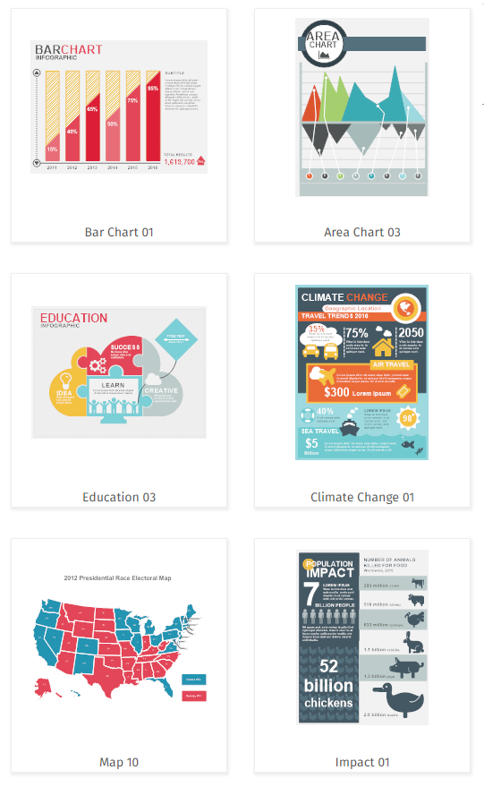 Infographic templates and examples