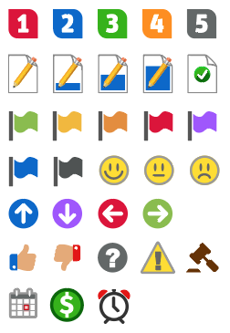 New mind mapping icons