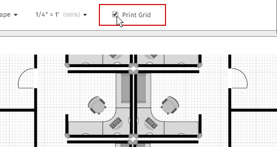 Print the grid for floor plans
