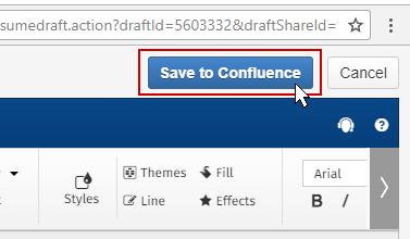 Save SmartDraw diagram into Confluence
