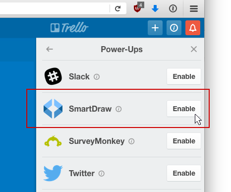 Enable SmartDraw
