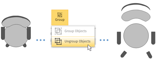 Ungroup symbols