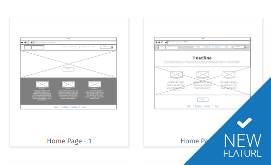 New wireframing tools