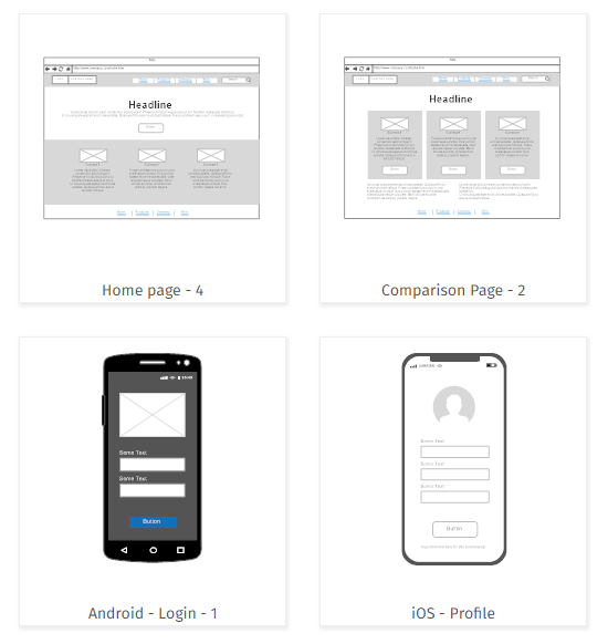 Wireframe template