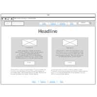 App and Website Wireframes
